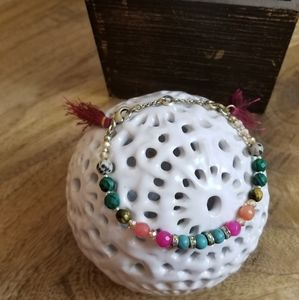 Beaded Bracelet with Tassels and extender